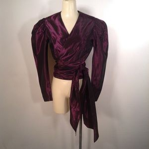 Vintage 80's Laura Ashley Satin Blouse Size 12 NWT